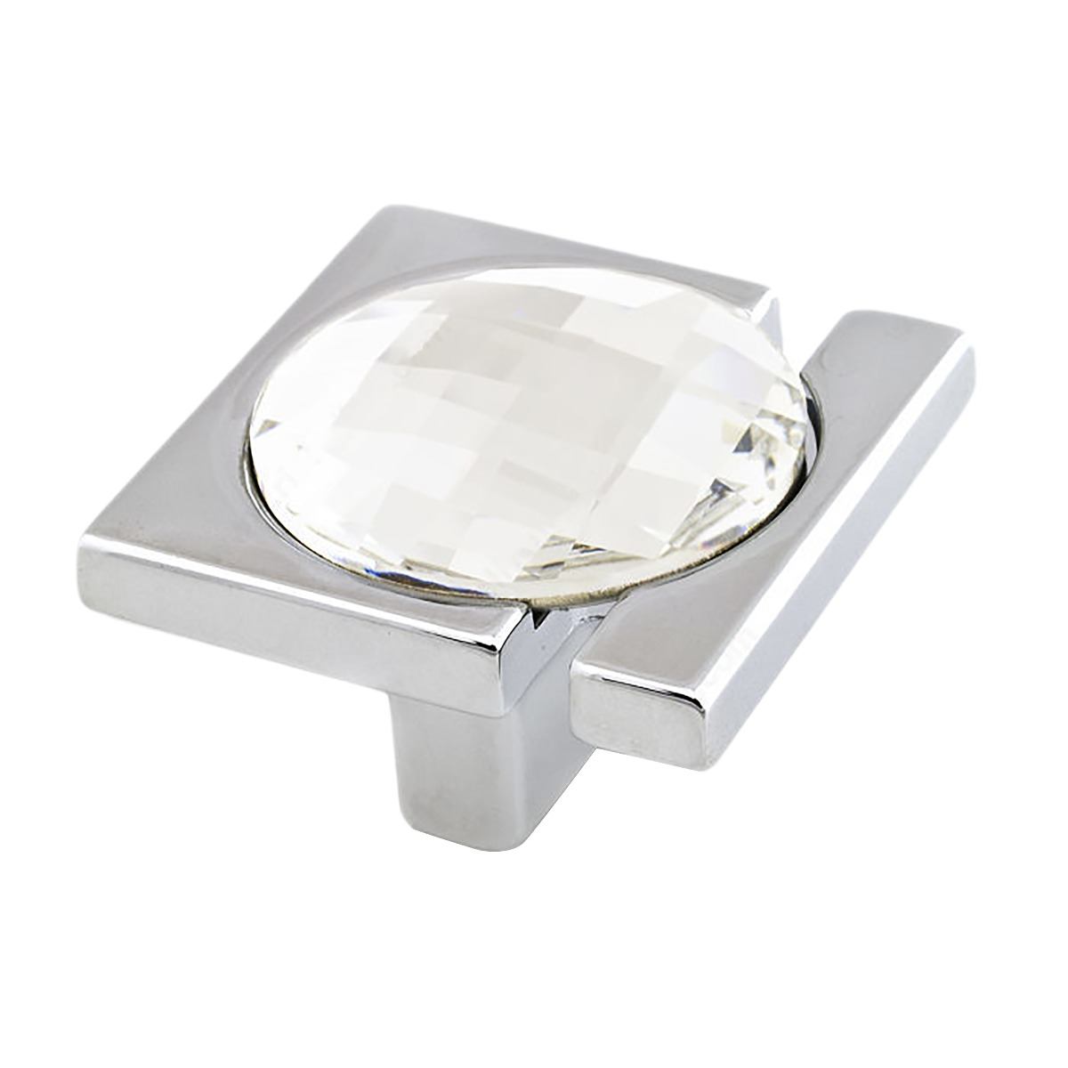 Picture of: Modern Brilliance Style Crystal And Chrome Cabinet Hardware Knob 1 15 32 37mm Inch Overall Length
