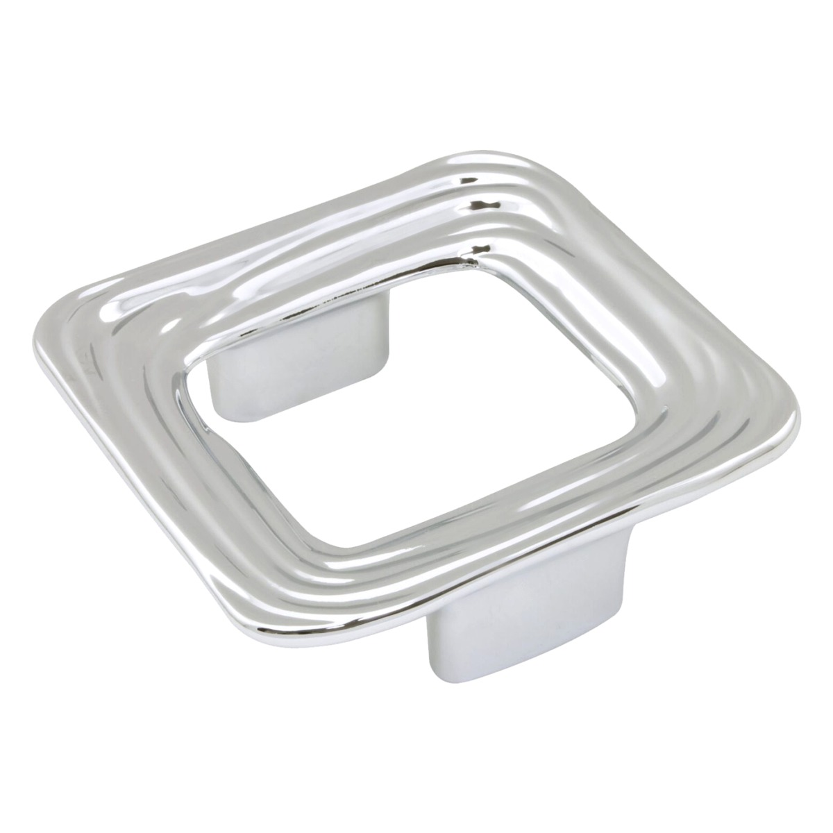 Wide Momentum Square Style 1-1/4 Inch Center To Center Chrome, Cabinet  Hardware Finger Pull / Handle