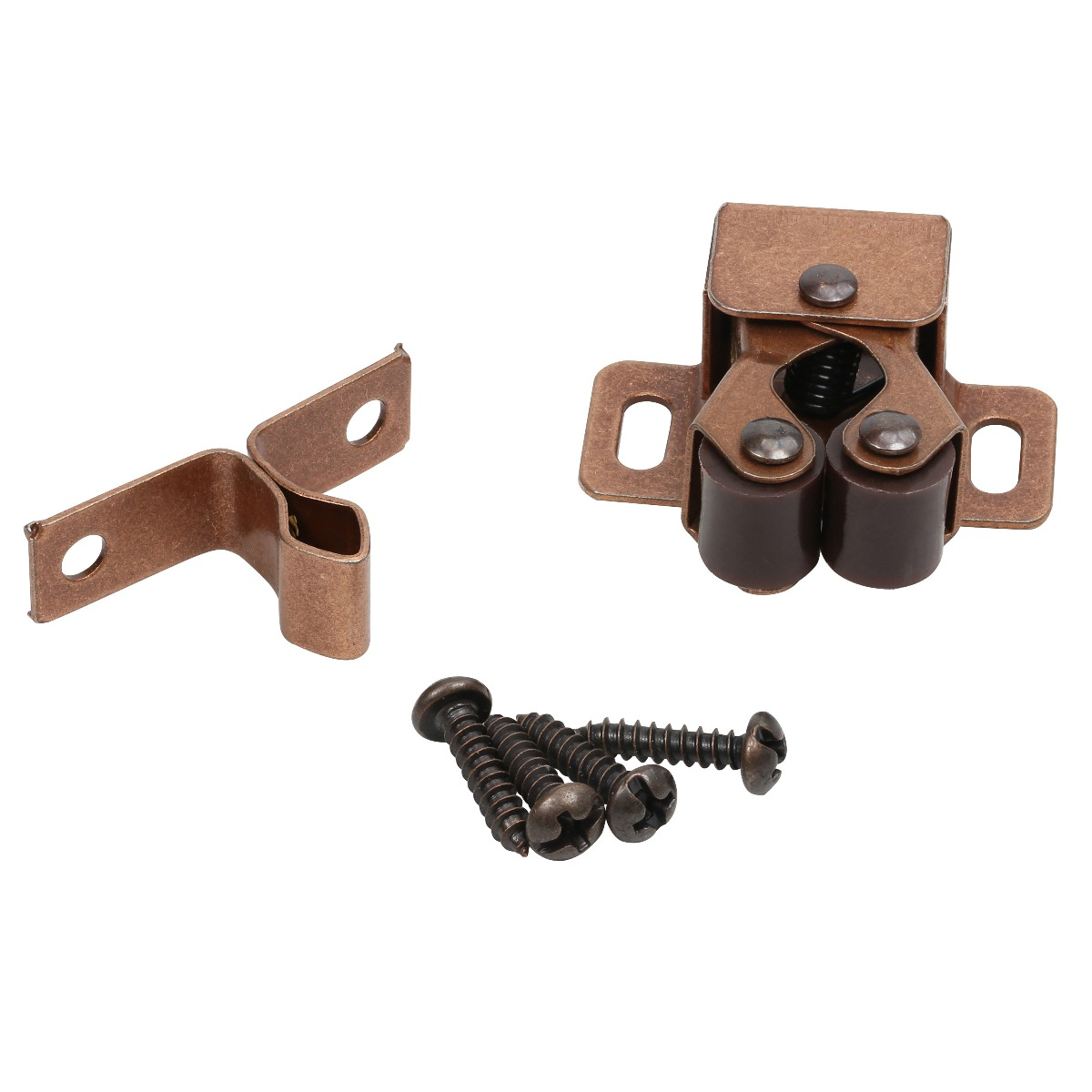 Picture of: Rok Hardware Penny Copper Double Roller Catch With Prong For Cabinet Doors Rv Cabinet Latch Camper Cabinets Kitchen Cabinets Dressers
